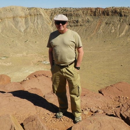 Kingman KOA: Didn't have pick of campground. Here is me at Meteor Crater