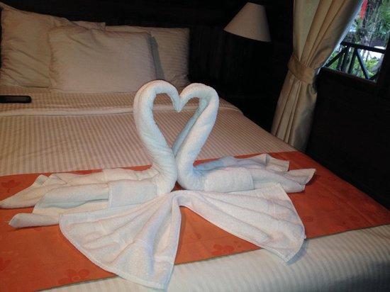 Tortuga Lodge & Gardens : Hermosa decoración en la habitación!