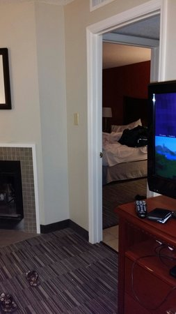 Homewood Suites by Hilton Savannah: Fireplace king suite