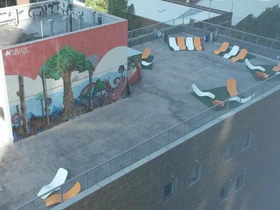 Pegasus Apart'Hotel: Tejado del Nomads Melbourne backpacker hostel