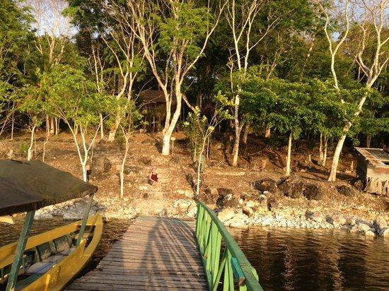 Ecolodge El Sombrero: vista desde el muelle