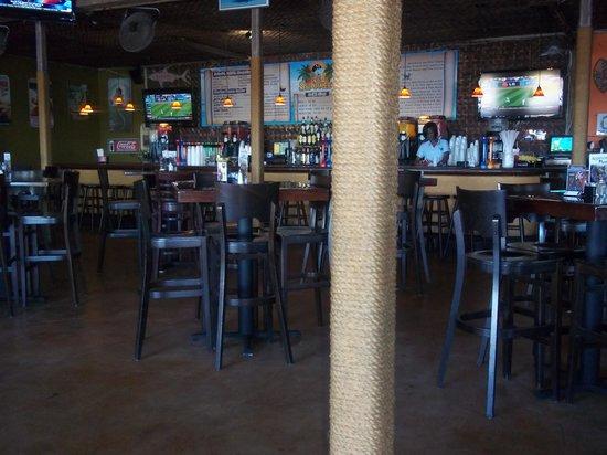 Sharkeez Tiki Bar : the inside of sharkeez