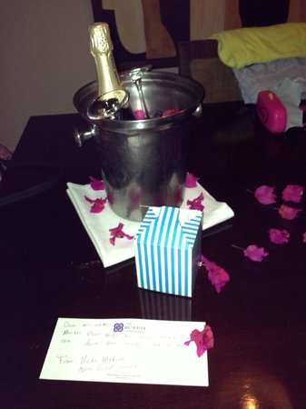 The Reserve at Paradisus Palma Real: our special treat and champagne! :) xo