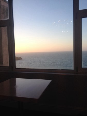 The Atlantic Hotel: Beautiful sunset view from our room