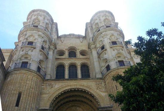 Malaga Cathedral : Parte alta della facciata