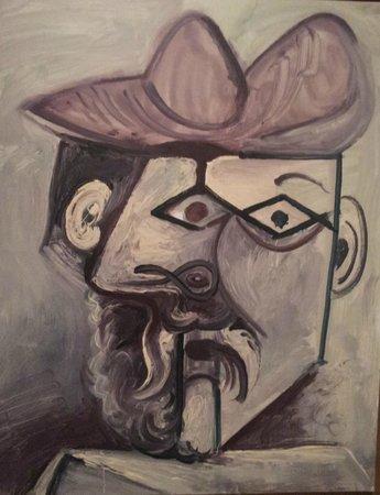 Musée Picasso de Malaga : Particolare di un'opera esposta,  riprodotta dalla cartolina acquistata allo shop del Museo.