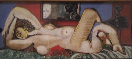 Musée Picasso de Malaga : Particolare di un'opera esposta,  riprodotta dalla cartolina acquistata allo shop del Museo