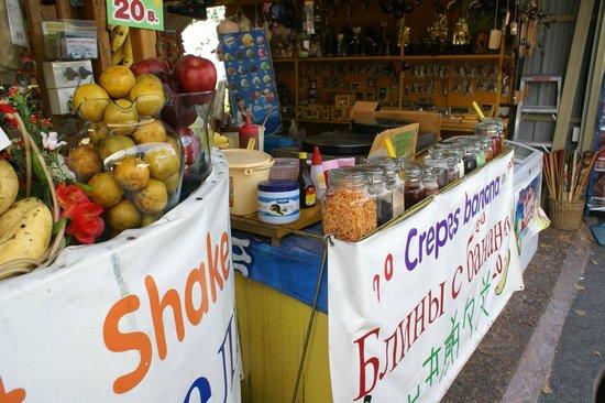 Khao Phra Tamnak (Khao Phra Bat): Crepe? Crepe? Anyone for crepes?