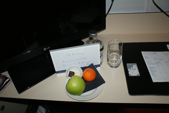WestCord Art Hotel Amsterdam: Welcome letter