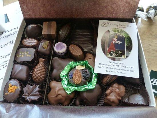 Gazebo Inn Ogunquit : Delicious chocolate from Harbor Candy Shop
