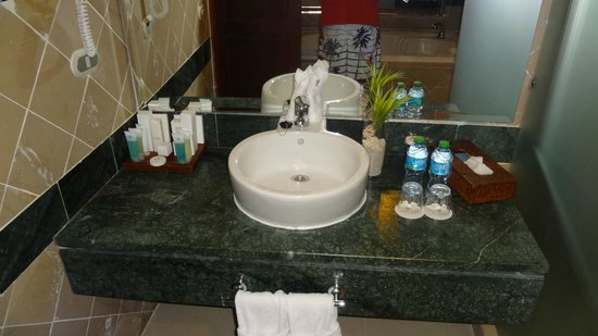 Luxury Bahia Principe Cayo Levantado: Sink area in our room