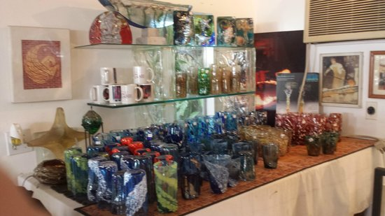 Phoenix Glass Studio & Gallery: Completed works of art.