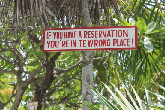 Grand Park Royal Cozumel : One of many funny signs at Coconuts