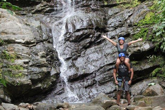Quepo Canyoning: waterfall shot