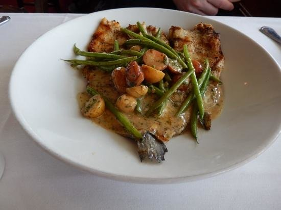 The Fish Market : Trout with potatoes & green beans