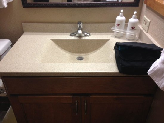 Falcon Point: Bathroom sink in one bedroom
