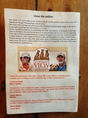 Zwartberg View Mountain Lodge : A glimpse of Jann's wit