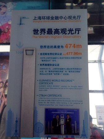 Centro Financiero Mundial de Shanghai: The world's highest observatory 世界最高观景层