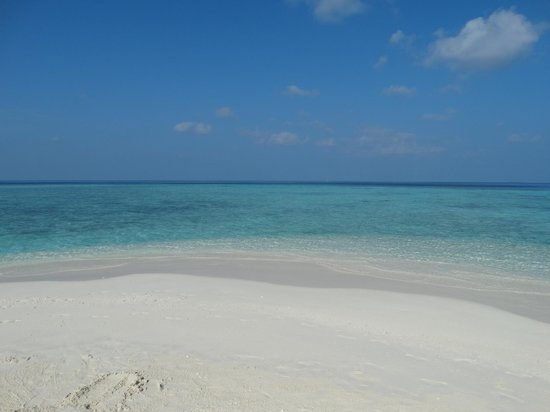 Embudu Village: Langue de sable côté ouest
