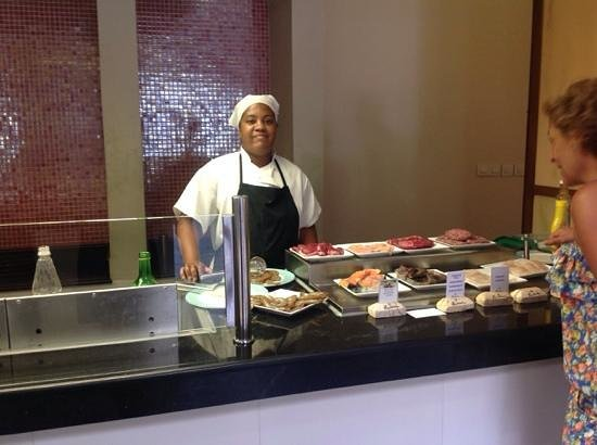 Paradisus Princesa del Mar Resort & Spa: Sunime ready to grill to taste - yum!