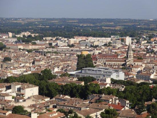 Jardins de la Fontaine : vista panorâmica do alto da Torre Magna