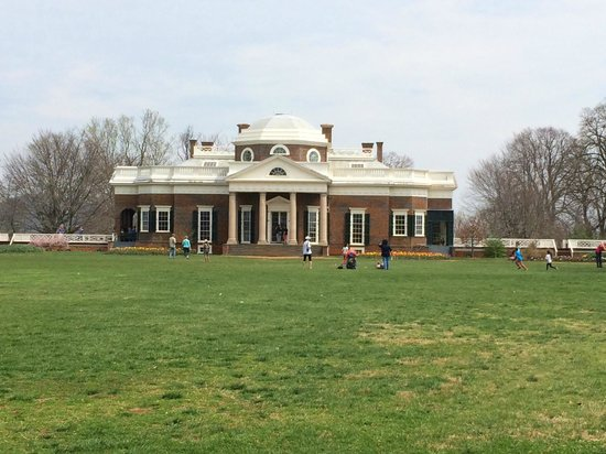 Thomas Jefferson's Monticello: The back of the house