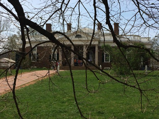 Thomas Jefferson's Monticello: The front entrance of the house