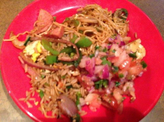 Companions Stir-fry combination after preparation,  Mongo's Grill  |  1570 Regent West, Winnipeg