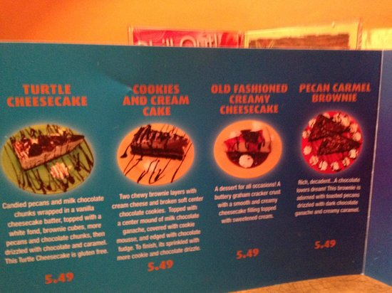 Inside the dessert menu  Mongo's Grill  |  1570 Regent West, Winnipeg, Manitoba R2C 5L1, Canada