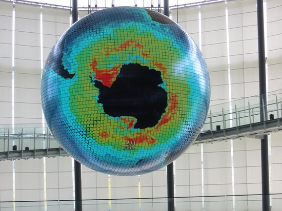 National Museum of Emerging Science and Innovation Miraikan: Miraikan's signature globe