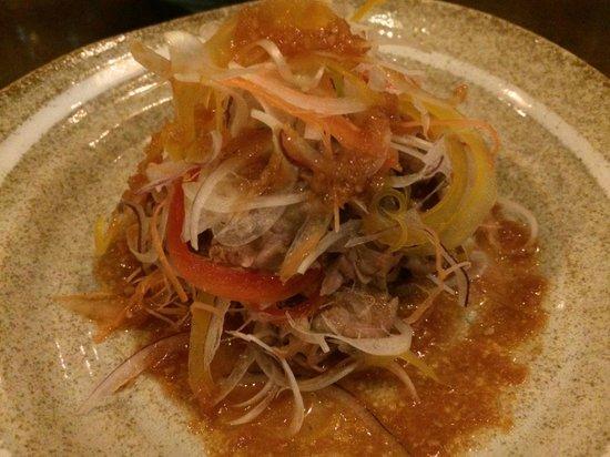 Restaurant Kiku: 前菜.牛しゃぶしゃぶサラダ