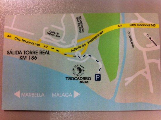 Trocadero Arena: Localización