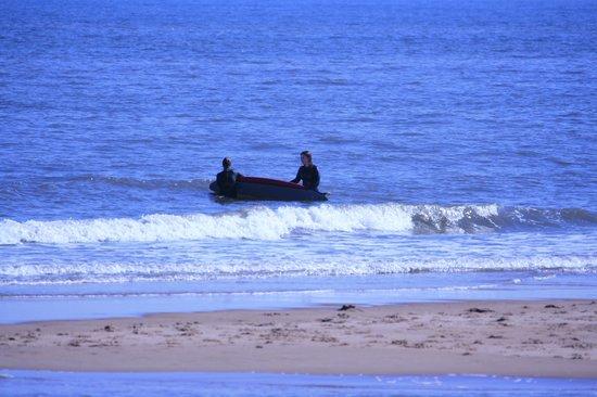 Balmedie Beach : Surfers!