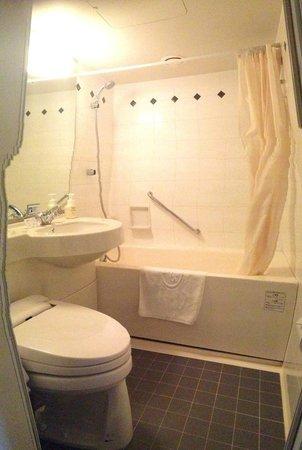 Hotel Villa Fontaine Tokyo-Shiodome : Very small bathroom