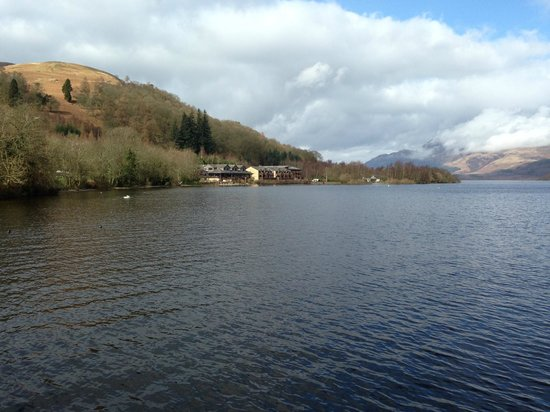 Lodge on Loch Lomond: Jetty view 2
