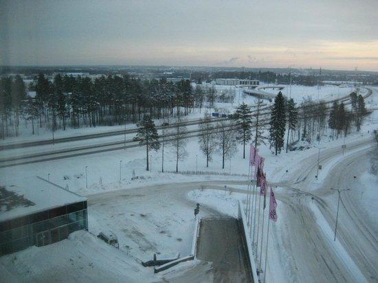 Break Sokos Hotel Flamingo: Зимний вид из окна