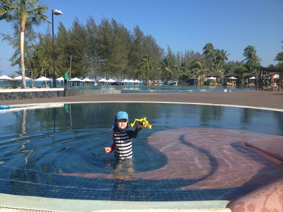 Grand West Sands Resort & Villas Phuket: Main Pool on the beach with kids pool