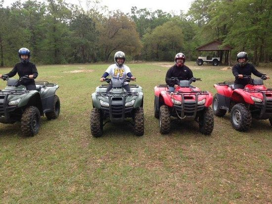 Carolinabackwoods ATV Tours: Lookin cool in my helmet!