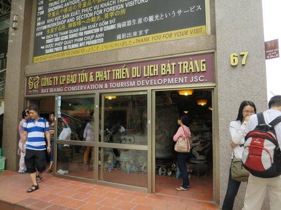 Bat Trang Ceramic Village: お店の様子
