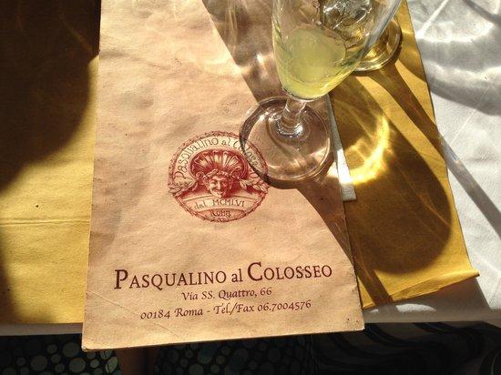 Pasqualino al Colosseo: Адрес