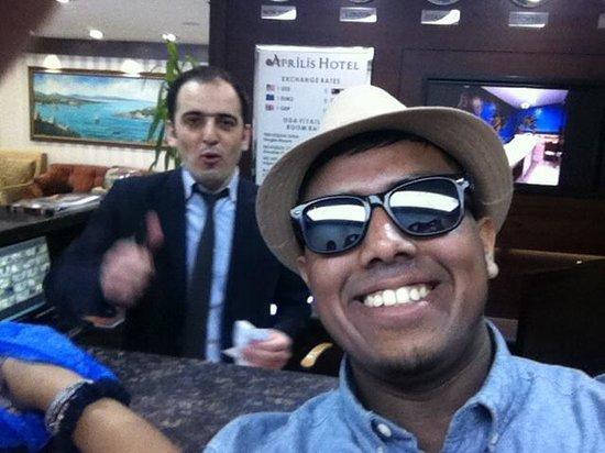 Aprilis Hotel : Me and best friend gurkan