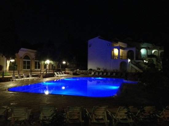 Altinkaya Holiday Resort: Pool at night