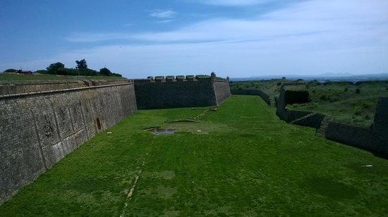 Castillo de San Fernando: Fosos