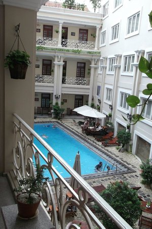 Grand Hotel Saigon: View from front door of our room  - 2nd floor