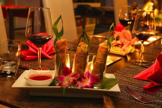 Sky Thai Dachrestaurant Metropol: Frühlingsrollen