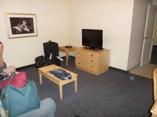 Elvis Presley's Heartbreak Hotel: Living area in the room.