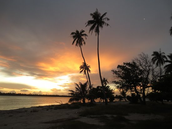 Pension Tereia : coucher de soleil