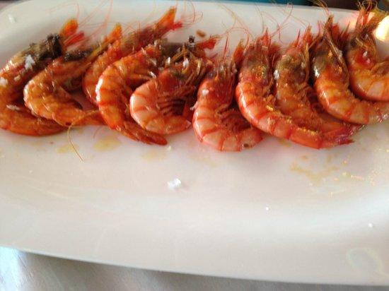 Restaurant Rosamar : Gambas de Roses