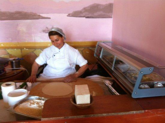 Kilikya Palace Goynuk : buffet de la pileta, pancakes turcos