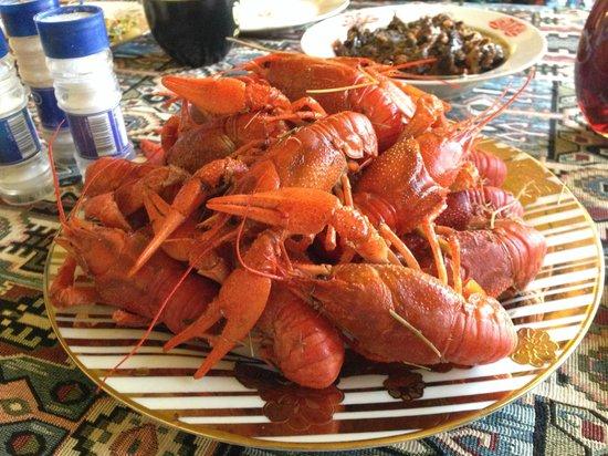 Penthouse Hotel & Hostel: Crayfish party!!! :)